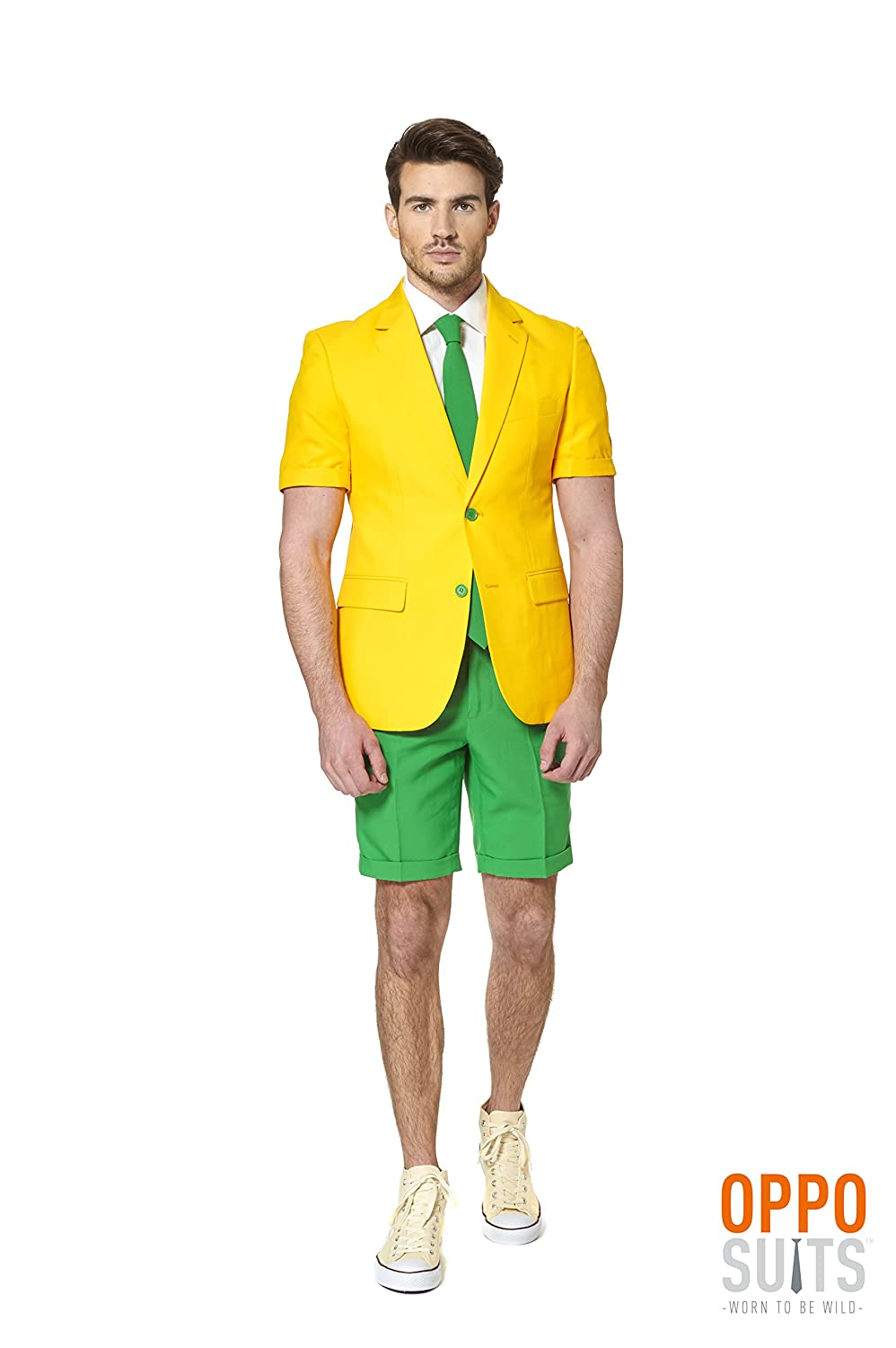 Generique - Opposuits Opposuits Opposuits Sommeranzug Grün and Gold S (46) be61ac