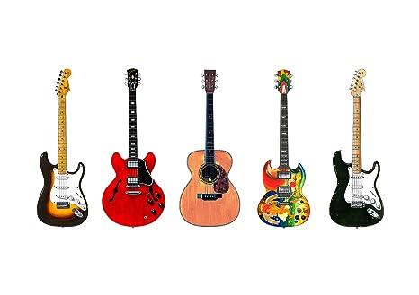 George Morgan Illustration 5 Guitarra de Eric Clapton Famoso Cartel tamaño de impresión A1