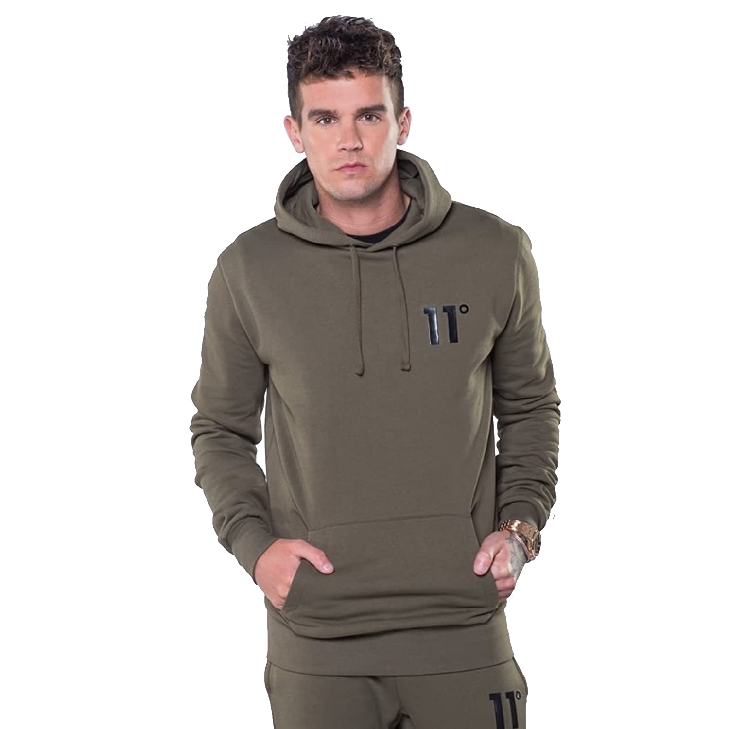 Eleven Degrees 11 Degrees 11D-378 Core Pull Overhead Hoodie - Khaki Large Khaki