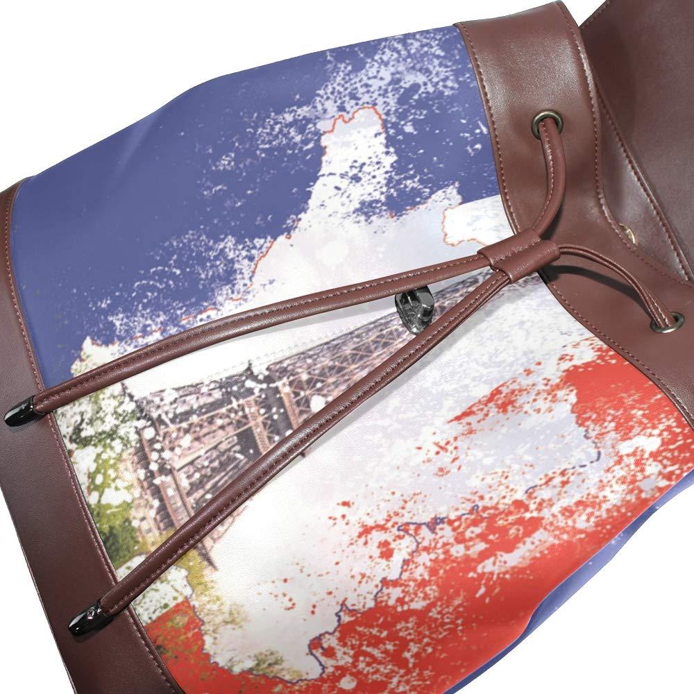 MONTOJ- MONTOJ- MONTOJ- Mochila de Viaje de Piel de la Torre Eiffel Francesa Campus 0b5618