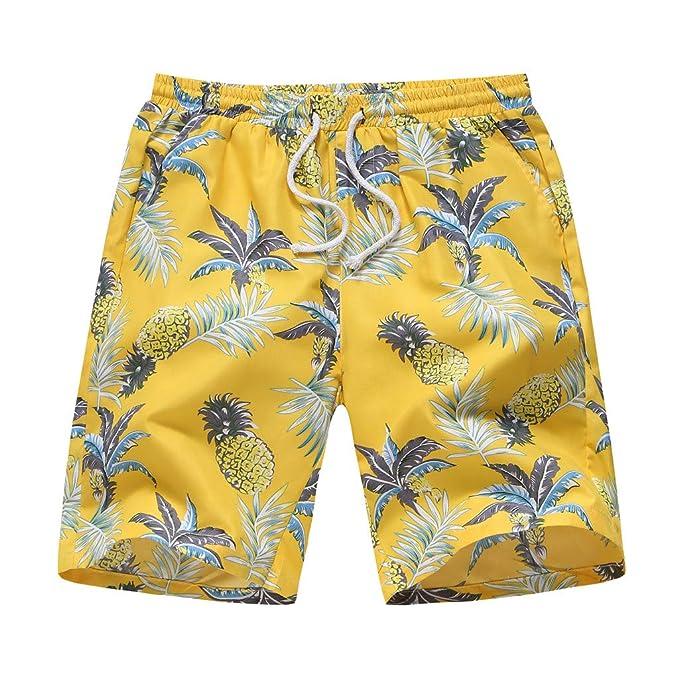 Geilisungren Swimshort - Pantalones Cortos Hombre Medium Drawstring, Bañador Natación Hombre,Banador Troncos de natación Secado Rápido de Natación ...