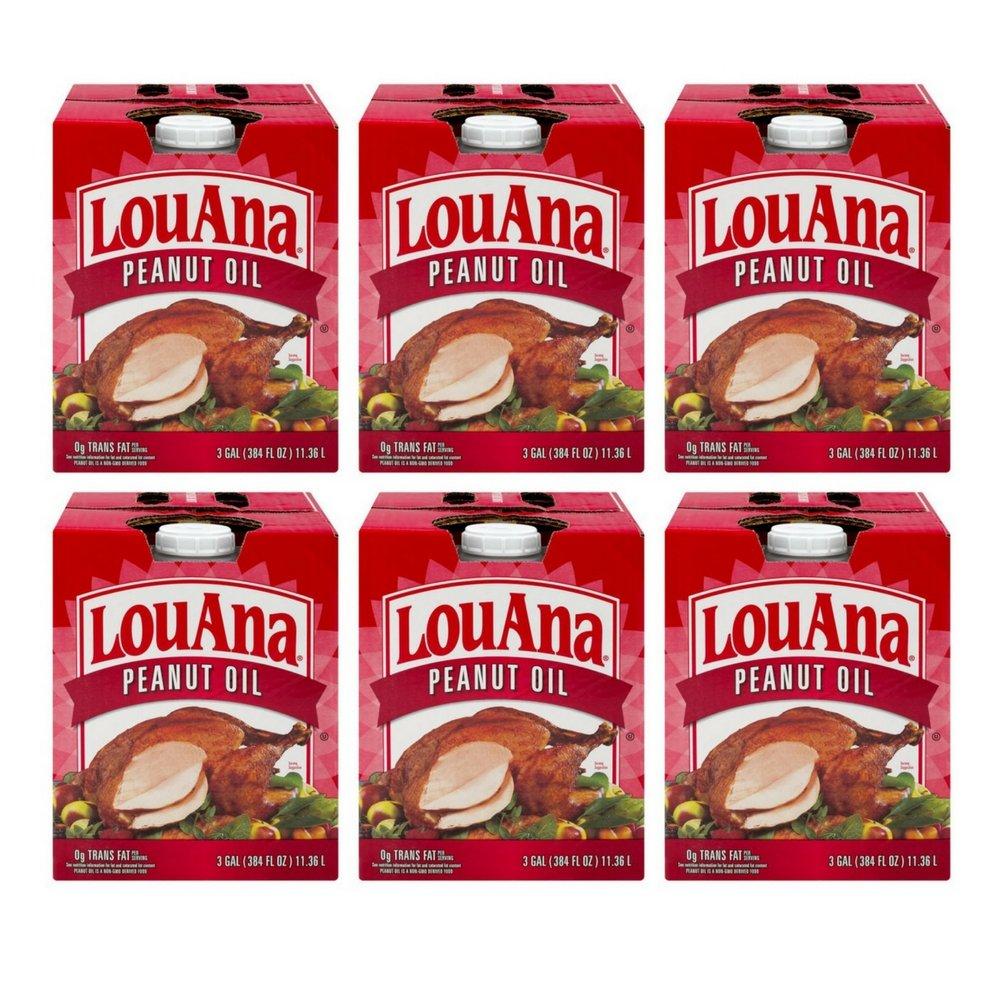 LOUANA 3 GALLON PEANUT OIL (6 Pack) by LouAna