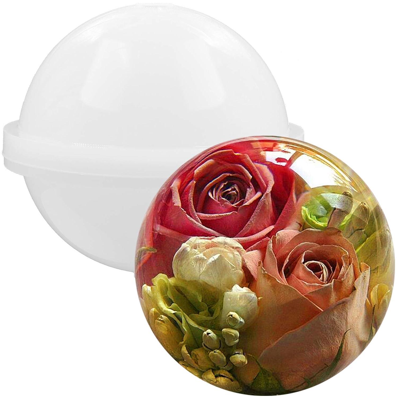 para crear joyas 0.8 inch para resina epoxi jabones y bombas de ba/ño caseros Molde esf/érico de Musykrafties de silicona velas