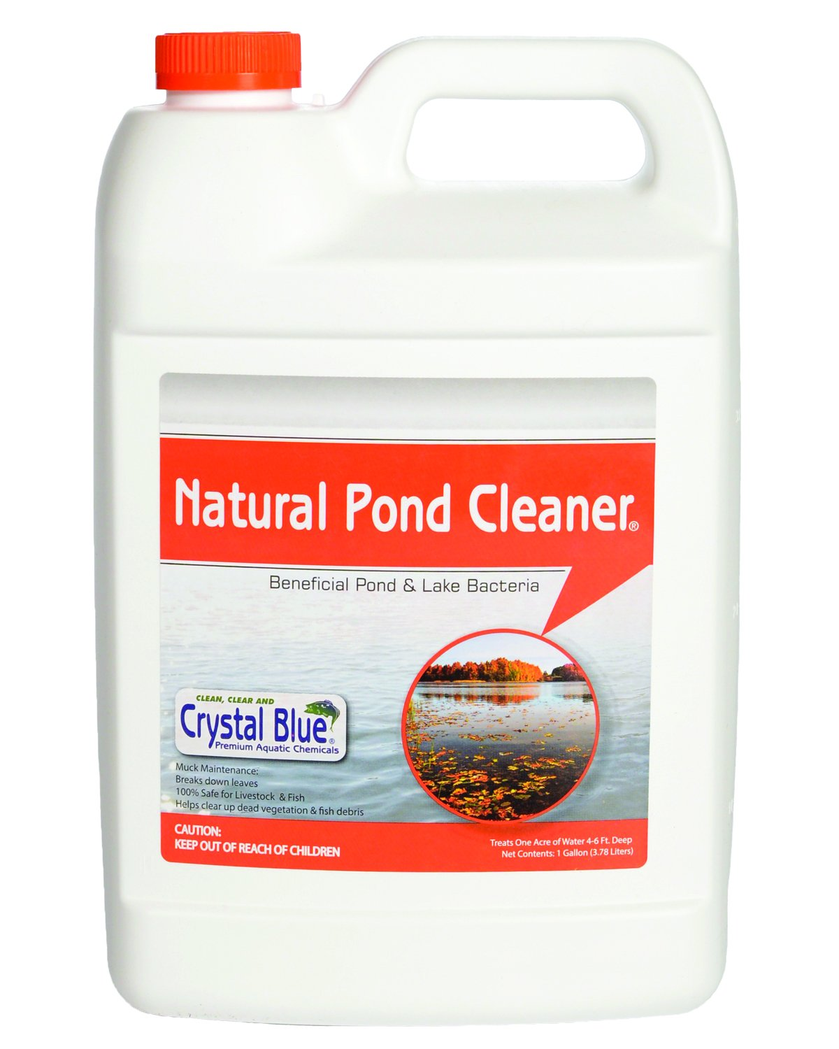 Crystal Blue Natural Pond Cleaner - Muck and Sludge Remover, Safe for Koi - 1 Gallon by Crystal Blue