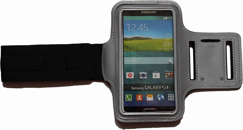 Blank L Dunkel-Blau Sport-Armband Schwei/ßfest Schutz-Tasche f/ür Samsung Galaxy A50 Fitness Handy-h/ülle Arm-Tasche mit Kopfh/öreranschluss Laufen