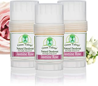 product image for Green Tidings Natural Deodorant - Jasmine Rose 1 oz. (3 Pack) - Extra Strength, All Day Protection - Vegan - Cruelty-Free - Aluminum Free - Paraben Free - Non-Toxic - Solid Lotion Bar Tube