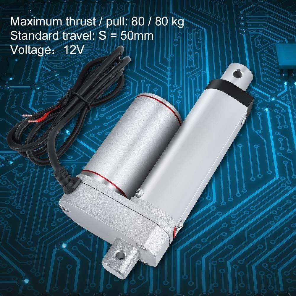 Actuador lineal - DC 12V Actuador lineal 80KG Max Lift 50mm Stroke Motor eléctrico for Medical Auto Car