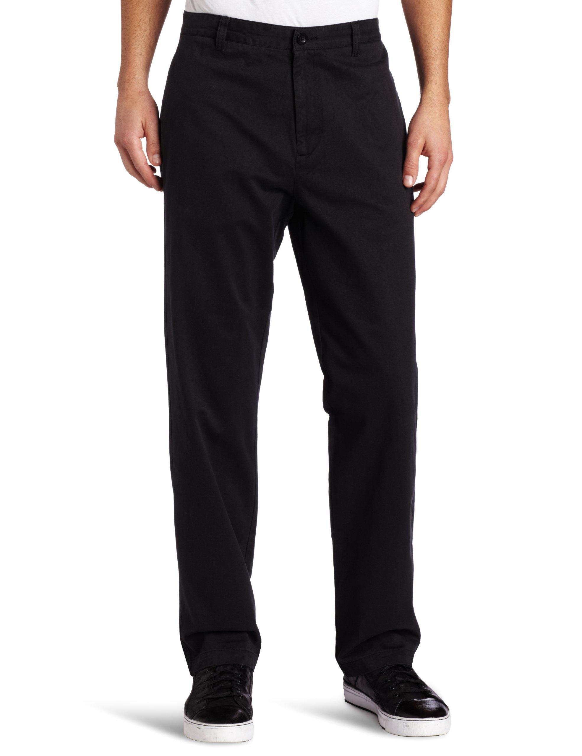 Calvin Klein Men's Dylan Soft Wash Straight Leg Chino Pant, Black, 40Wx32L