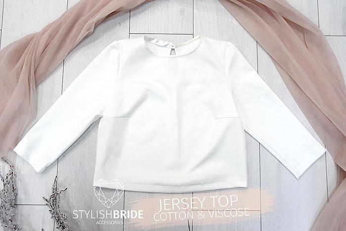 dffc207d1a9c4e Amazon.com  Jersey Crop Top Dress Pink Blush Plum Rose Waterfall Tulle  Skirts for Bridesmaids