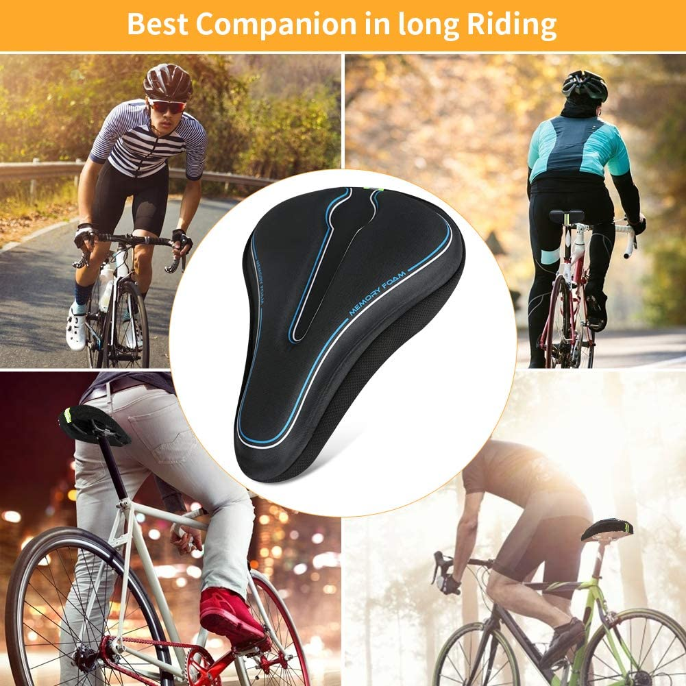 Indoor//Outdoor Bikes Color You Bike Seat Cover Memory Foam Mountain Bike Seat Cover Soft and Flexible Bike Seat Cushion Universal Fit Bicycle Seat Cover for Men and Women