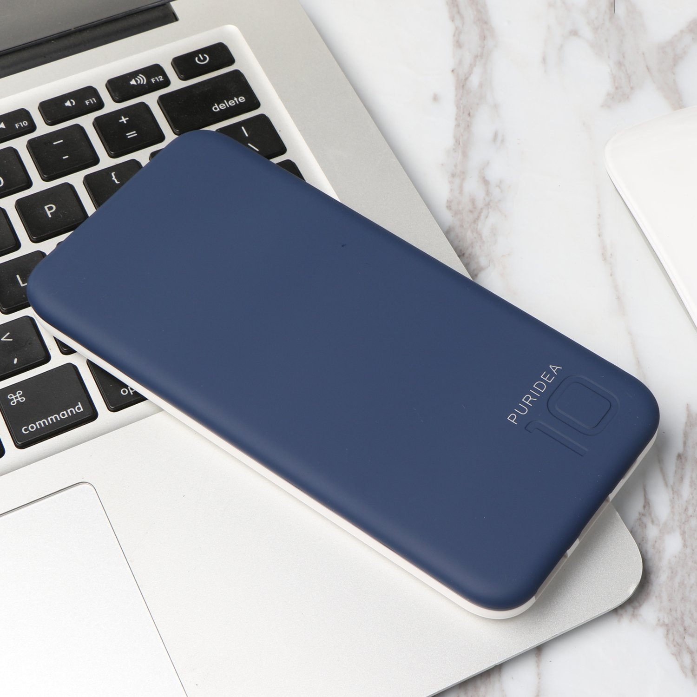 10000 mAh Batería Externa, 2 Puertos COOODI Cargador Móvil Power Bank Portátil para iPhone, iPad, Samsung y Otros Dispositivos, Azul Marino