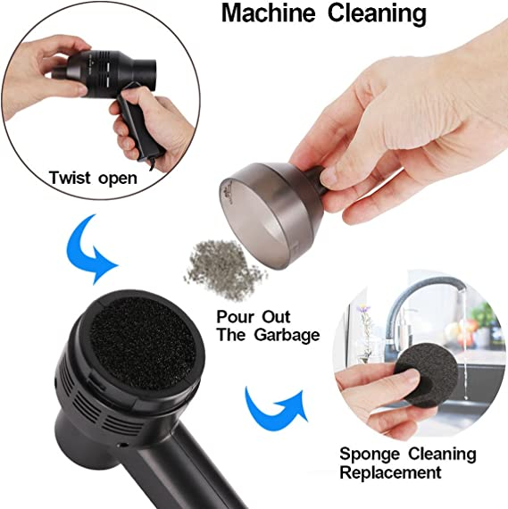 Lychee Mini Aspirateur /à main lev/ée DE LA poussi/ère Confetti miettes Nettoyage en profondeur portable daspiration puissant pour cheveux Aliment/é par USB Keyboard Cleaner