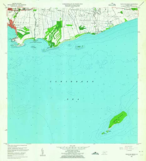 YellowMaps Playa De Ponce PR topo map, 1:20000 Scale, 7.5 X 7.5