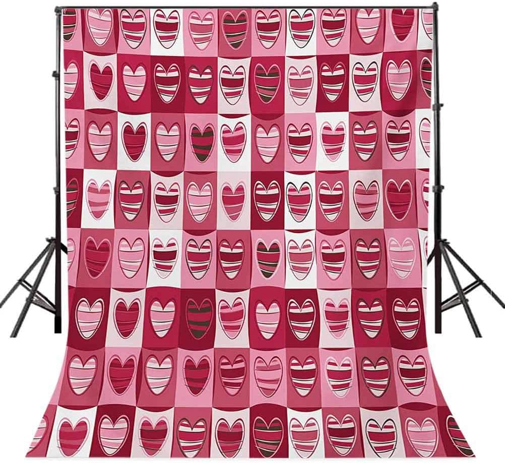 Tea Party 8x10 FT Photography Backdrop London Newspaper Inspired Background with Grunge Elements Kiss Marks Background for Photography Kids Adult Photo Booth Video Shoot Vinyl Studio Props