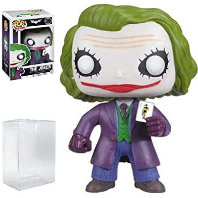 Funko POP! Heroes: DC Comics Batman: The Dark Knight Movie - The Joker #36 Vinyl Figure (Bundled with Pop Box Protector Case): Toys & Games