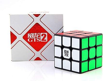 D-FantiX Moyu Weilong GTS V2 3x3 Speed Cube Moyu Weilong GTS2 3x3x3 Magic Cube Puzzle Black