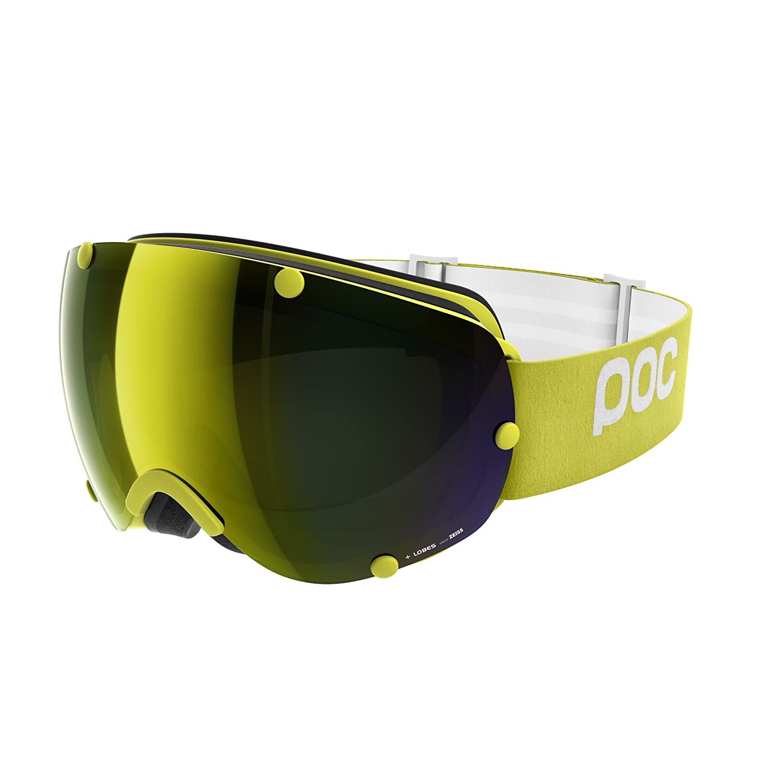 Hexane Yellow One Size POC Sports Lobes Goggles