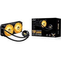 ASUS TUF Gaming LC 240 RGB all-in-one liquid CPU cooler (Aura Sync,TUF 120mm RGB radiator fans with fan blade groove…