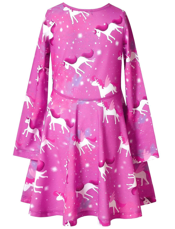 QPANCY Girls Long Sleeve Dresses for Kids