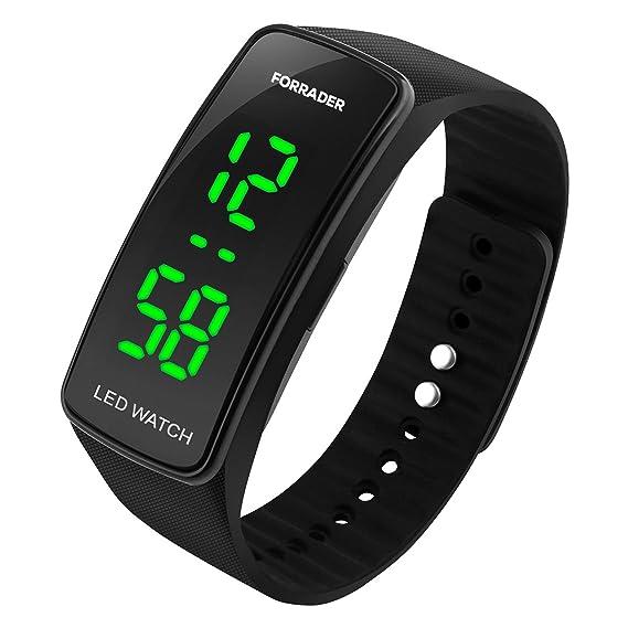 Forrader Hombre Mujer Unisex LED Reloj Deportivo Pulsera de caucho con función de fecha reloj: Amazon.es: Relojes
