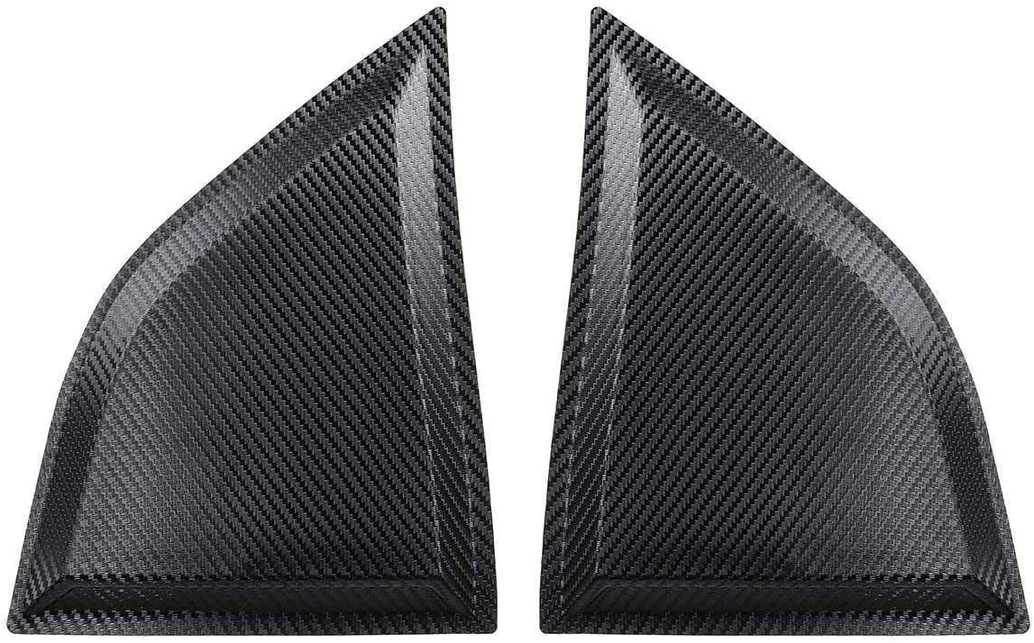 Farbe : Carbon Fiber Color NO LOGO WSF Autofenster Wind 1Pair Fenster Scoops Quarter-Panel-Fenster-Abdeckung Seiten Louvers Vent Fit for Dodge-Challenger XE 2008-2017