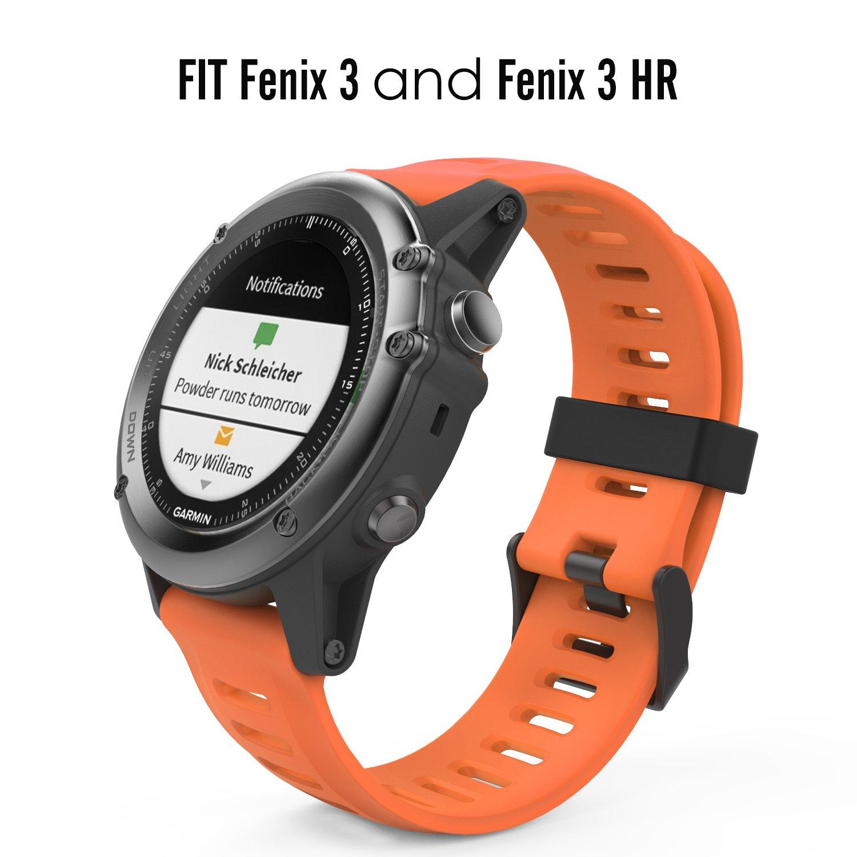 Moko Accessories For Garmin Fenix 3 Soft Silicone Amazon Co Uk