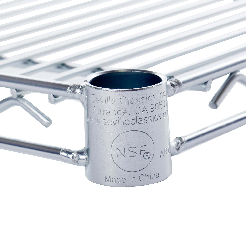 Seville Classics UltraDurable Commercial-Grade NSF-Certified Steel Wire Shelf 36 W x 18 D UltraZinc