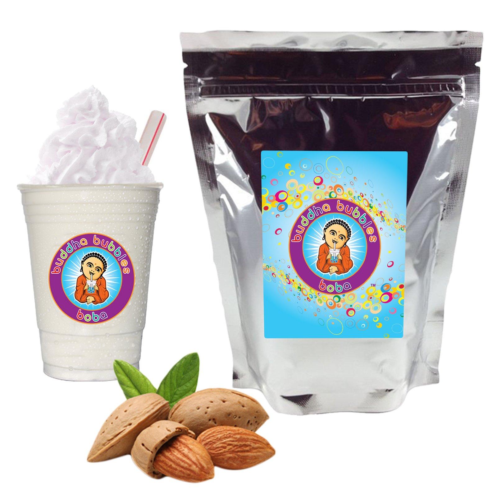 Almond Boba / Bubble Tea Drink Mix Powder By Buddha Bubbles Boba 1 Kilo (2.2 Pounds) | (1000 Grams) by Buddha Bubbles Boba