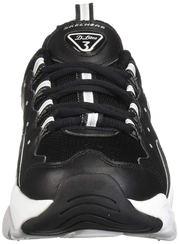 Skechers Damen Turnschuhe D´Lites 3.0 ZENWAY Schwarz Schwarz Schwarz Weiß Schuhgröße EUR 38 676657