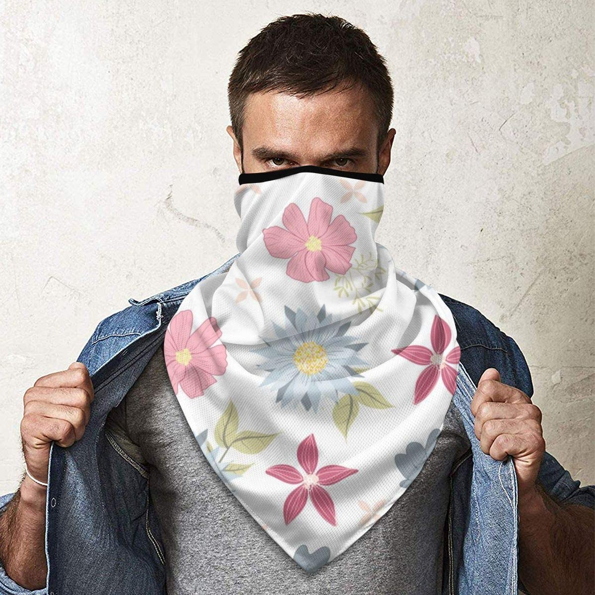 Wind-Resistant Face Mask/& Neck Gaiter,Balaclava Ski Masks,Breathable Tactical Hood,Windproof Face Warmer for Running,Motorcycling,Hiking-Spring Flowers