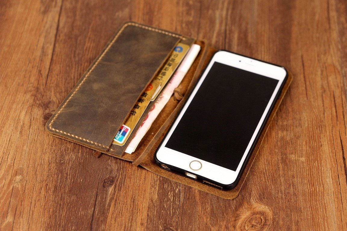 Wedding Gift  BLACK Handmade Wallet Personalized iPhone XS Max Wallet Full Grain Leather Best Phone Case for iPhone iPhone XS Max Case