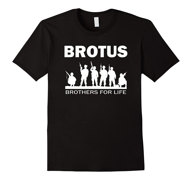 Brotus Army Navy Marines Military Veteran Brothers T-shirt