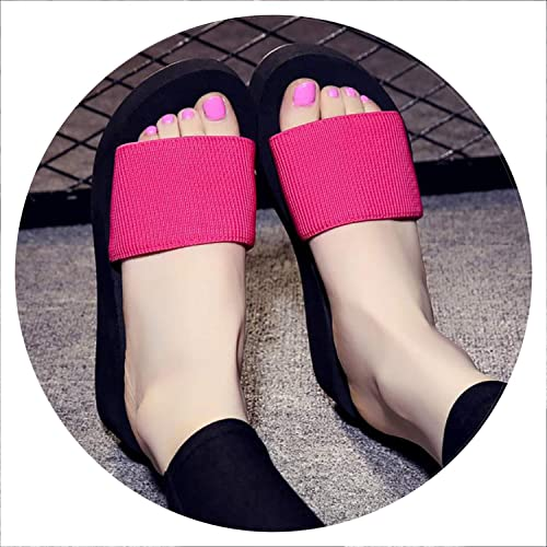 839f980eba827 Image Unavailable. Image not available for. Color  Summer Woman Shoes  Platform Bath Slippers Wedge Beach Flip Flops High Heel ...