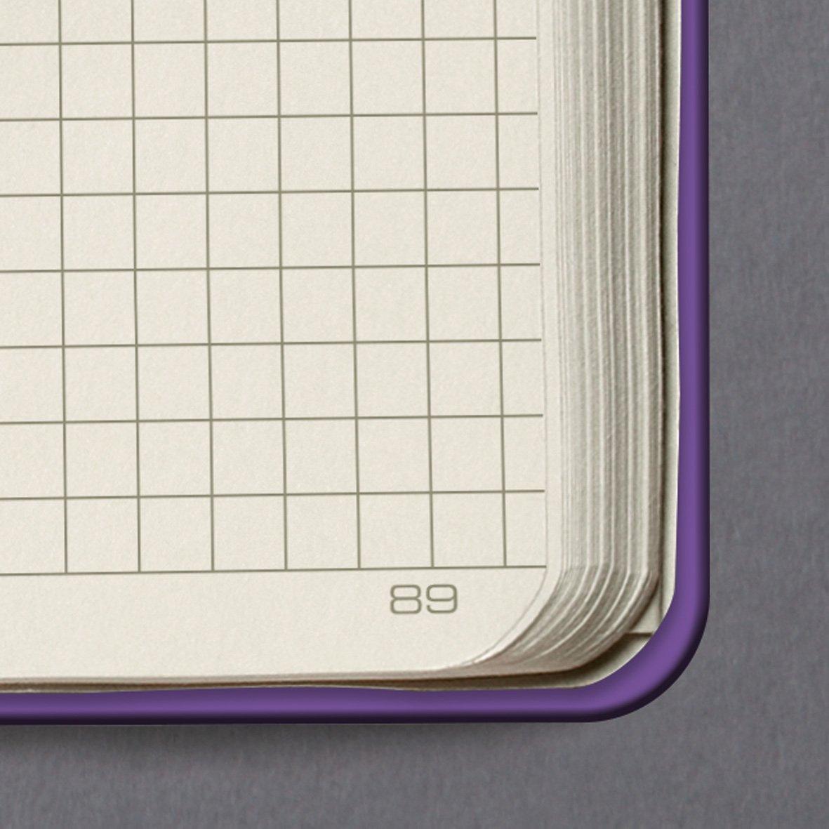 circa A5 194 pagine a quadretti marrone copertina rigida SIGEL CO565 Taccuino Conceptum