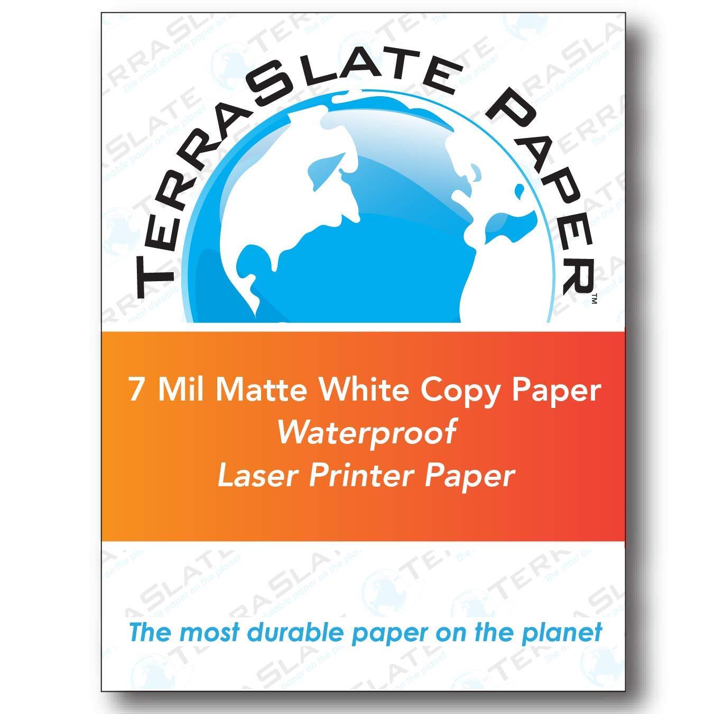 TerraSlate Paper 7 MIL 8.5'' x 11'' Waterproof Laser Printer/Copy Paper 500 Sheets by TerraSlate Paper (Image #1)