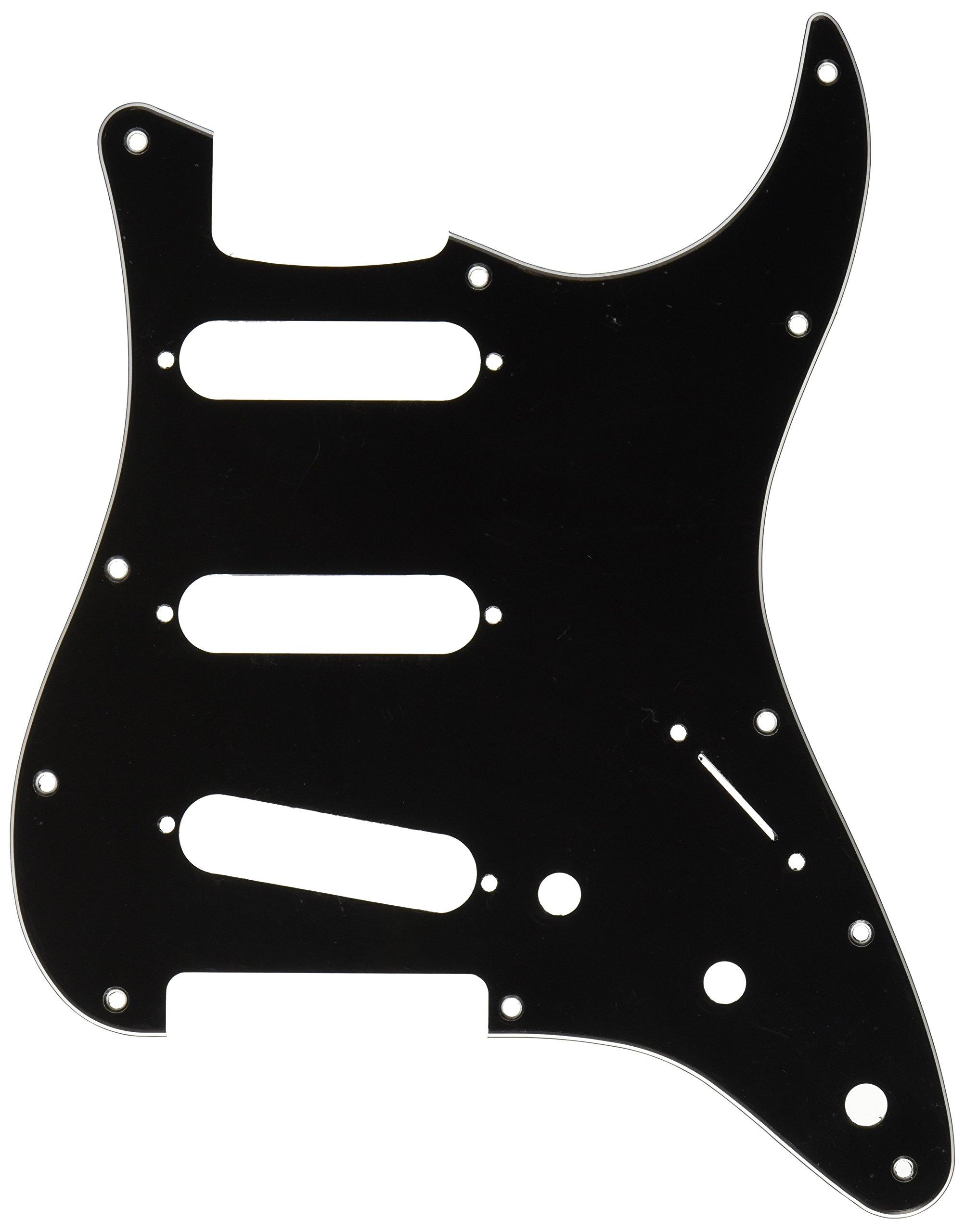 Fender Modern Pickguard, Stratocaster, 11-Hole - Black