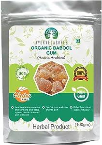 Babul-Babool Gum Acacia Arabica-Indian Herbs Gum-Organic Babul Gum Herbal 100 Gm