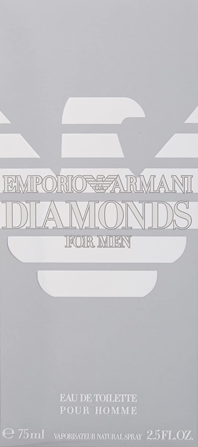 Emporio Armani Diamonds by Giorgio Armani for Men. Eau De Toilette Spray 2.5-Ounces