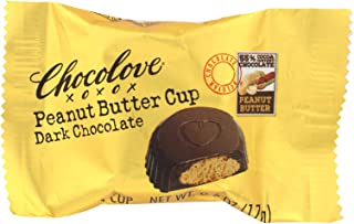 product image for Chocolove Xoxox Cup - Peanut Butter - Dark Chocolate - Case of 50 - .6 oz