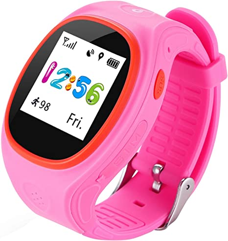 Eastshop Niños Kid Smart Watch S866A Monitorización Remota SOS Kid Pedometer Posicionamiento GPS Por el iPhone y Android Smartphone , pink: Amazon.es: Deportes y aire libre