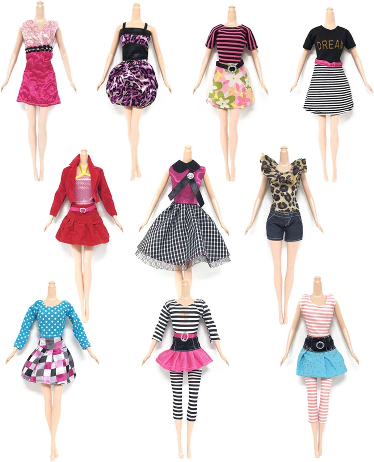 NEW Random 10pcs Dresses Clothes For Dolls Figures Toys Girl Ladys Best Gift