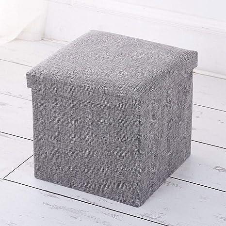 Puff asiento Taburete de almacenamiento Armario de tela ...