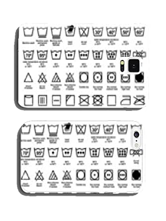 Icon Set Of Laundry Symbols Funny Case Pare Ntitem Amazon
