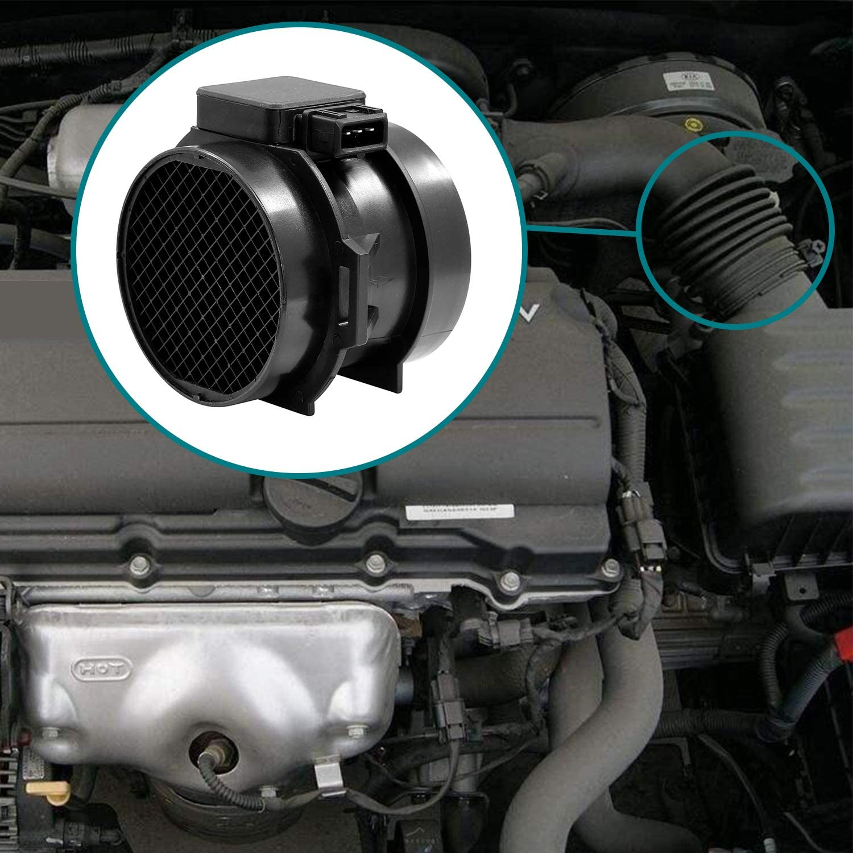5WK9643 Mass Air Flow Sensor MAF Meter for 2001-2010 Hyundai Sonata Tiburon Santa Fe Tucson Kia Optim Sportage 2.5L 2.7L Replaces# 28164-37200 5S2705 MF21041N