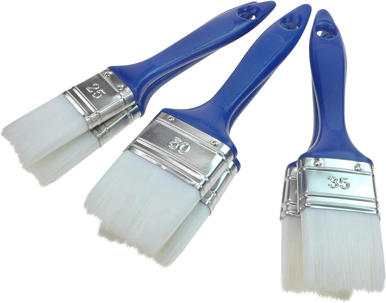 Juego de pinceles de barniz Aqua 6 unidades, 25-35 mm - 50 mm, cerdas sint/éticas PMX