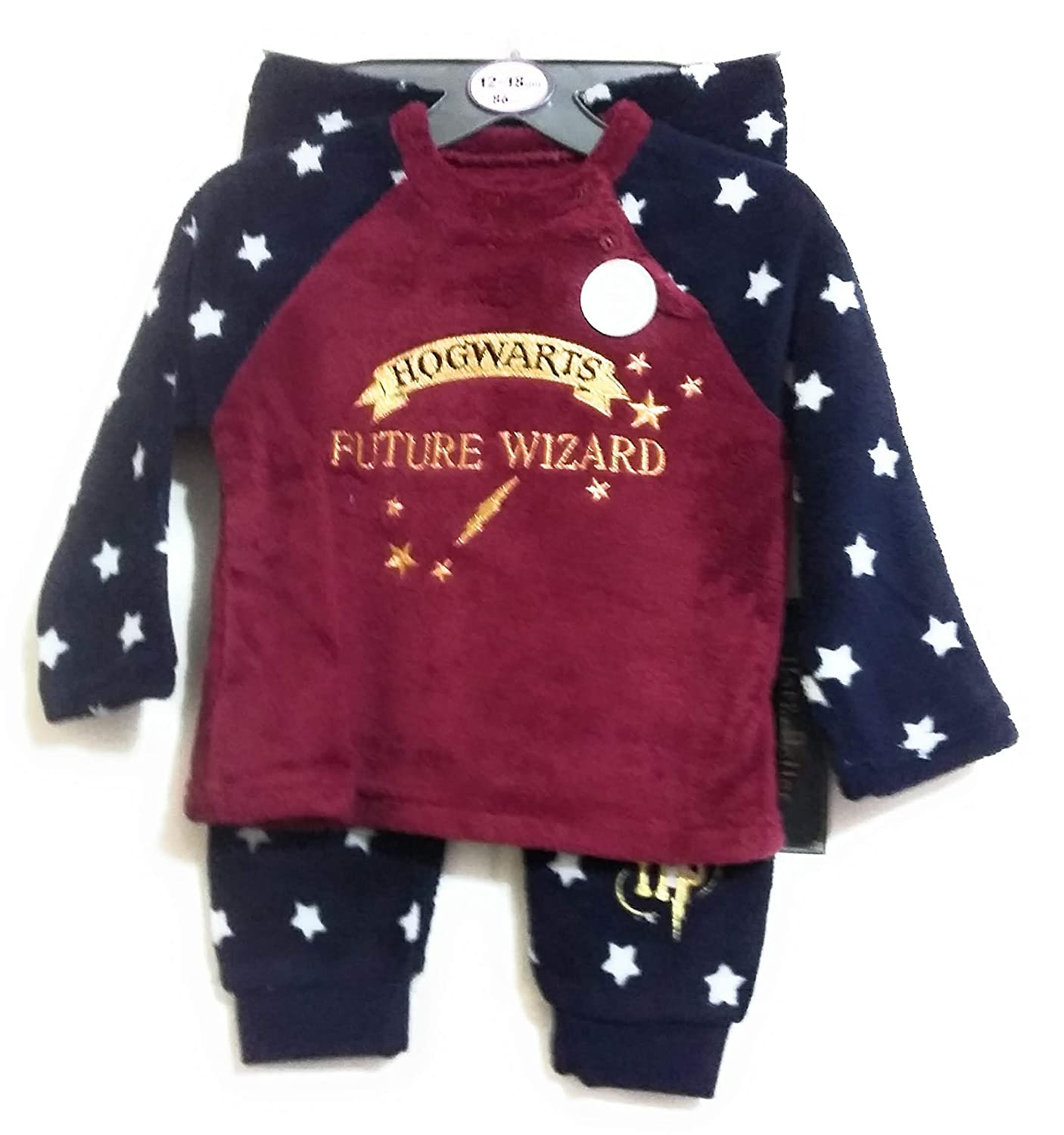 Licensed_Primark Harry Potter Hogwarts Baby Boys Soft Fleece Pyjamas PJ's Age 12-24 Months