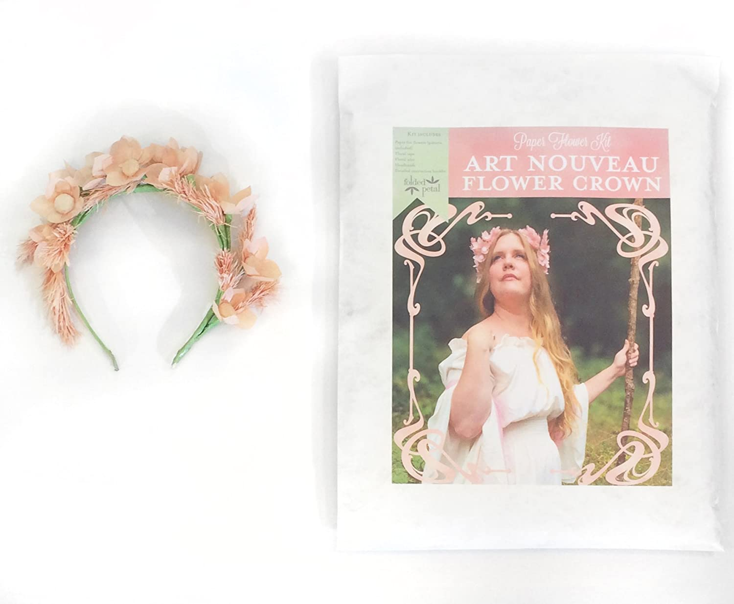 Amazon Paper Flower Kit Art Nouveau Flower Crown Includes