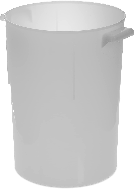 Carlisle 080002 BPA-Free Bains Marie Round Storage Container, 8 Quart, White