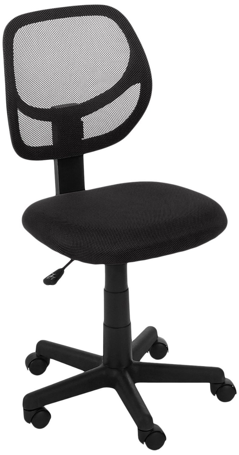 Amazoncom AmazonBasics LowBack Computer Chair Black Kitchen - Office computer chairs