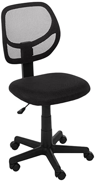 Amazoncom AmazonBasics Low Back Computer Chair Black Kitchen